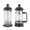 BonJour Coffee La Petite 12.7-Ounce Borosilicate Glass French Press & Milk Frother Set - Black~53521