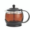 "BonJour Tea ""Prosperity"" Borosilicate Glass 42-Ounce Teapot with Plastic Frame - Black~53108"
