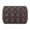 Circulon Nonstick 12-Cup Muffin Pan - Chocolate Brown~46014