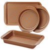 Farberware Colorvive Nonstick 4-Piece Bakeware Set - Copper~47136