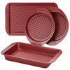 Farberware Colorvive Nonstick 4-Piece Bakeware Set - Red~47134