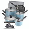 Farberware Dishwasher Safe Nonstick 15-Piece Cookware Set - Aqua~21894