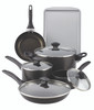 Farberware Dishwasher Safe Nonstick 15-Piece Cookware Set - Black~21806
