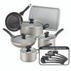 Farberware Dishwasher Safe Nonstick 15-Piece Cookware Set - Champagne~21805