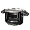 Farberware Neat Nest Space Saving Aluminum Nonstick 6-Quart Covered Sauce Pot - Black~20468
