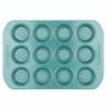 Farberware purECOok Hybrid Ceramic Nonstick 12-Cup Muffin & Cupcake Pan - Aqua~46329