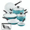 Farberware® PURECOOK Ceramic Nonstick 12-Piece Cookware Set - Aqua~17494