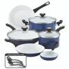 Farberware® PURECOOK Ceramic Nonstick 12-Piece Cookware Set - Blue~17490