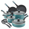 Paula Deen Riverbend Aluminum Nonstick 12-Piece Cookware Set - Gulf Blue Speckle~16981