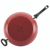 Paula Deen Riverbend Aluminum Nonstick 12.5-inch Deep Skillet with Helper Handle - Red Speckle~16993