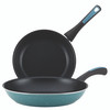 Paula Deen Riverbend Aluminum Nonstick 9.25-inch and 11.5-inch Skillets Twin Pack - Gulf Blue Speckle~16984