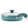 Paula Deen Signature Collection Porcelain Nonstick 15-Piece Cookware Set - Aqua Speckle~12513