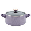 Paula Deen Signature Collection Porcelain Nonstick 15-Piece Cookware Set - Lavender Speckle~13064
