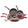 Paula Deen Signature Collection Porcelain Nonstick 15-Piece Cookware Set - Red Speckle~12512