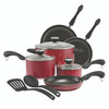 Paula Deen Signature Dishwasher Safe Nonstick 11-Piece Cookware Set - Red~21994