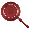 Paula Deen Signature Porcelain Nonstick 12-inch Deep Skillet - Red Speckle~19244