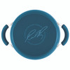 Rachael Ray Classic Brights Hard Enamel Nonstick 5.5-Quart Covered Casserole - Marine Blue Gradient~17661