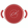 Rachael Ray Classic Brights Hard Enamel Nonstick 6-Quart Covered Stock Pot - Red Gradient~17658