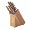 Rachael Ray Cucina 6-Piece Japanese Stainless Steel Knife Block Set with Acacia Handles~50715