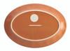 Rachael Ray Cucina Dinnerware 10-inch x 14-inch Stoneware Oval Platter - Pumpkin Orange~57402