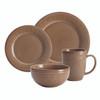 Rachael Ray Cucina Dinnerware 16-Piece Stoneware Dinnerware Set - Mushroom Brown~55097