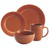 Rachael Ray Cucina Dinnerware 16-Piece Stoneware Dinnerware Set - Pumpkin Orange~55095