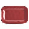 Rachael Ray Cucina Dinnerware 8-inch x 12-inch Stoneware Rectangular Platter - Cranberry Red~57232