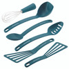 Rachael Ray Tools and Gadgets Nylon Nonstick 6-Piece Tools Set - Marine Blue~46409