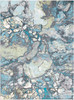 Aberdine Modern Lava Aqua Blue and Gray Rug~ABE8014