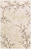 Athena Blossom Vine Hand Tufted Taupe and Gray Wool Rug~ATH5008