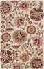 Athena Allover Floral Hand Tufted Red and Brown Wool Rug~ATH5035