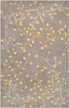 Athena Vine Hand Tufted Taupe and Mustard Wool Rug~ATH5060