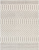 Bahar Farmhouse Charcoal Gray and Beige Rug~BHR2312