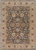 Caesar Medallion Charcoal and Khaki Hand Tufted Wool Rug~CAE1005