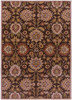 Caesar Classic Floral Hand Tufted Dark Brown Wool Rug~CAE1051