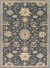 Caesar Medallion Navy Blue Hand Tufted Wool Rug~CAE1154