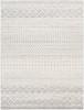 Elaziz Light Gray and White Tribal Rug~ELZ2308