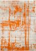 Jax Modern Art Burnt Orange and Gray Rug~JAX5032