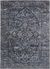 Monte Carlo Classic Vintage Navy Blue and Gray Rug~MNC2301