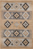 Paramount Tribal Medium Gray and Khaki Rug~PAR1045