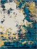 Pepin Abstract Art Aqua Blue and Gray Rug~PEI1012