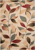 Riley Leafy Dark Red and Tan Rug~RLY5010