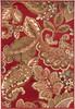 Riley Paisley Dark Red and Tan Rug~RLY5020