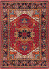 Serapi Traditional Dark Red and Black Rug~SRP1001