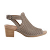 Ivy Syrah Soft Leather Sandal - Wide~Grey*602723WWBCK
