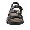 Sand Maui Leather Sandal~Black*602776WLEA
