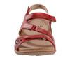 Sand Maui Leather Sandal~Bright Red*602776WLEA