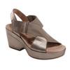 Khaya Kendi Metallic Leather Sandal~602830WLEA