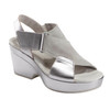 Khaya Kendi Metallic Leather Sandal~602830WMET
