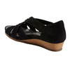 Ficus Gemini Soft Leather Sandal - Wide~Black*602861WWBCK